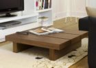 Awesome Large Square Coffee Table Dark Wood Designs