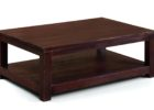 Beautiful Square Dark Wood Coffee Table UK with Sorages