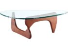 Best Contemporary Cherry Wood Coffee Table With Glass Top