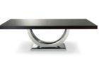 Black Faux Wood And Chrome Coffee Table