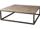 Black Metal Frame Coffee Table With Wood Top