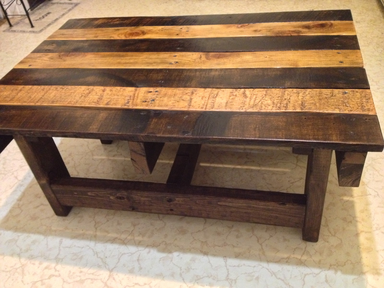 Black Reclaimed Wood Coffee Tables For Sale