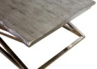 Black Wood And Chrome Coffee Table
