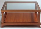 Cheap Cherry Wood Coffee Table With Glass Top