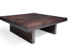 Cheap Large Square Dark Wood Coffee Table Furniture