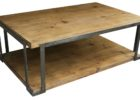 Cheap Metal Frame Coffee Table With Wood Top