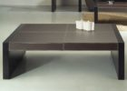 Cheap Modern Large Square Dark Wood Coffee Table