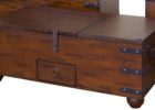 Cheap Solid Dark Wood Trunk Coffee Table