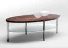 Cherry Wood Coffee Table With Glass Top Storages
