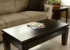 Cherry Wood Coffee Table With Glass Top and Lift Top
