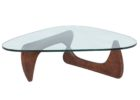 Contemporary Cherry Wood Coffee Table With Glass Top Designs