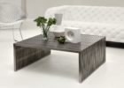 Contemporary Large Square Dark Wood Coffee Table