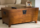 Dark Wood Trunk Coffee Table for Living Room
