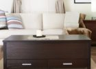 Dark Wood Trunk Coffee Table with Drawer Ideas