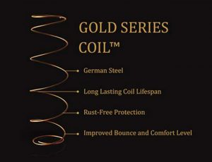 Gold-Coil-coil spring mattress-good quality mattress-memory foam spring mattress