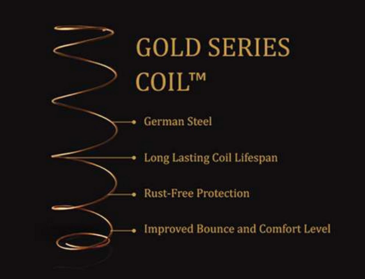 Gold-Coil-coil spring mattress-good quality mattress-memory foam spring mattress