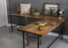 L shaped coffee table wood