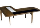 L shaped coffee table wood design