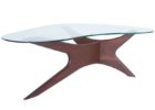 L shaped coffee table wood glass on top