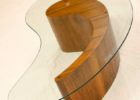 L shaped coffee table wood glass top