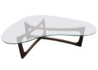 L shaped coffee table wood glass top ideas
