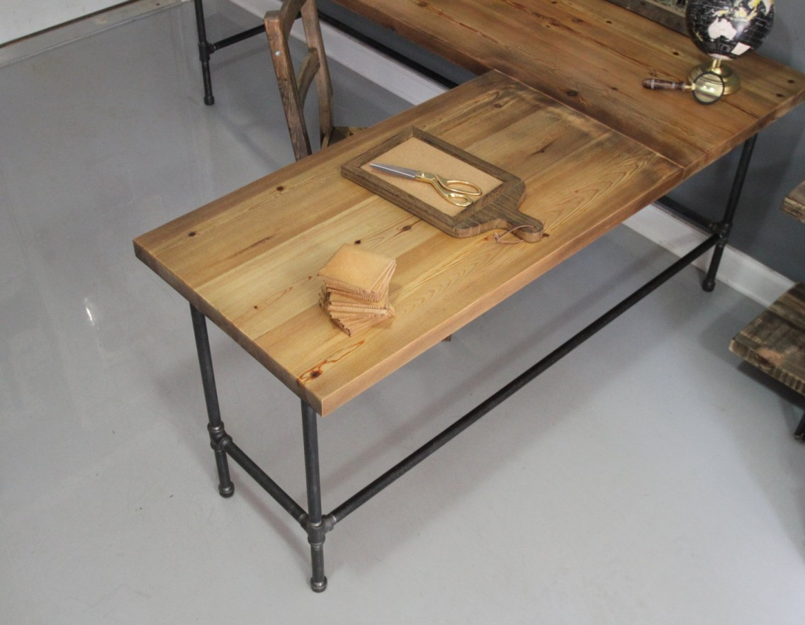 L shaped coffee table wood top