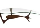 L shaped coffee table wood with storage glass top