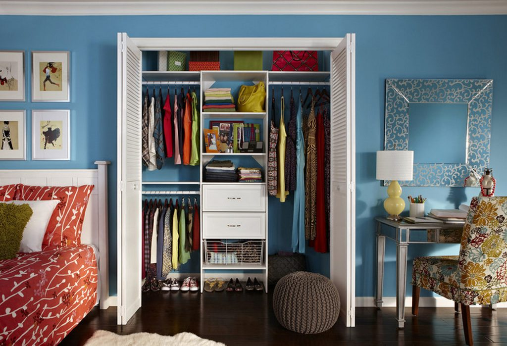 Laminate-White_Teen-Clothes Wardrobe Armoire