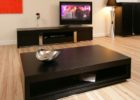 Large Square Coffee Table Dark Wood Furniture Sets