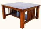 Large Square Coffee Table Dark Wood Furnitures