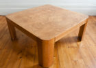 Large Square Coffee Table Dark Wood Maple