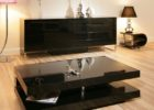 Large Square Dark Wood Coffee Table Furniture Sets