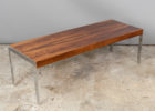 Lennox Faux Wood And Chrome Coffee Table