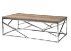 Lennox Natural Wood And Chrome Coffee Table Top