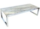 Lennox Reclaimed Wood And Chrome Coffee Table