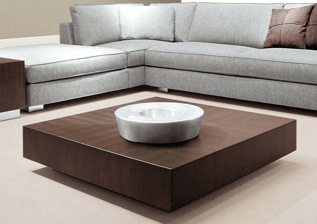 Low Large Square Dark Wood Coffee Table UK Living Room Furniture for Sale