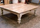 Low Square Dark Wood Coffee Table