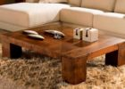 Low Square Dark Wood Coffee Table UK