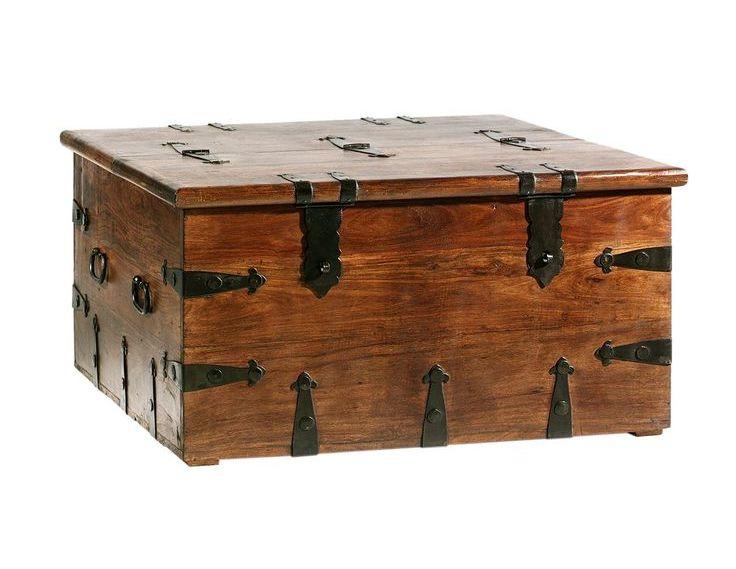Mahogany Dark Wood Trunk Coffee Table