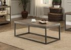 Metal Frame Coffee Table With Wood Top Furniture Set