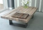 Metal Frame Coffee Table With Wood Top Maple