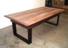 Metal Frame Coffee Table With Wood Top Oak