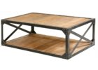 Metal Frame Coffee Table With Wood Top Reclaimed Wood
