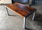 Metal Frame Coffee Table With Wood Top with Metal Frame