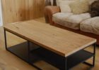 Metal Frame Coffee Table With Wood Top with Metal Legs