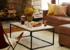 Modern Cheap Metal Frame Coffee Table With Wood Top