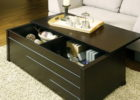 Modern Dark Wood Trunk Coffee Table with Storages