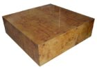 Modern Large Square Coffee Table Dark Wood Solid