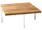 Natural Reclaimed Wood And Chrome Coffee Table