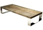 Natural Reclaimed Wood And Chrome Coffee Table Legs